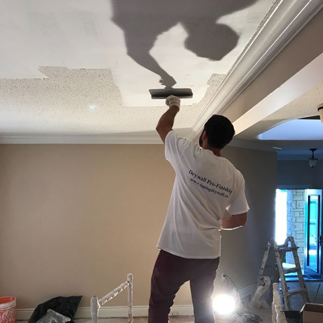 drywall,toronto,installation,company,popcorn,ceiling,removed
